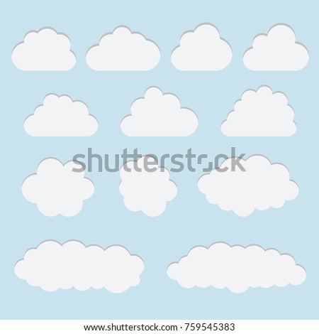 picture about Printable Clouds Cut Out titled cloud lower out -