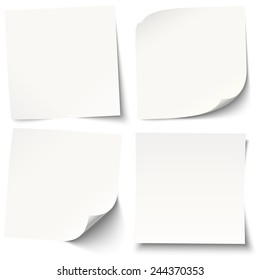 collection of white sticky notes with different shadows