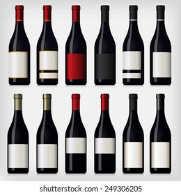 Collection of Wine Bottles