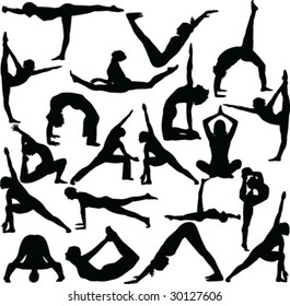 A collection of Yoga Poses
