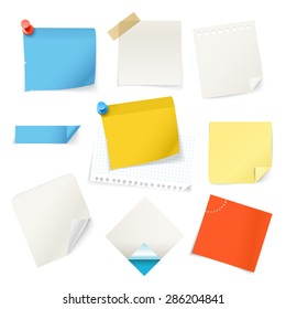Collectionn of paper stickers. Template for a text