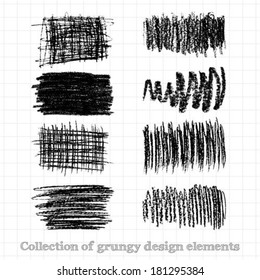 Collections of grunge design elements vector