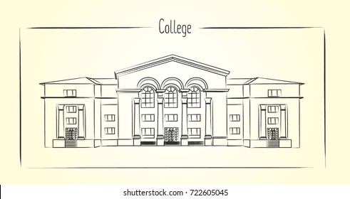 College building outline