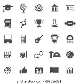 College icons on white background, stock vector