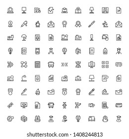 College line icon set. Collection of pixel perfect high quality black outline logo for web site design and mobile apps. College graduate vector illustration on a white background
