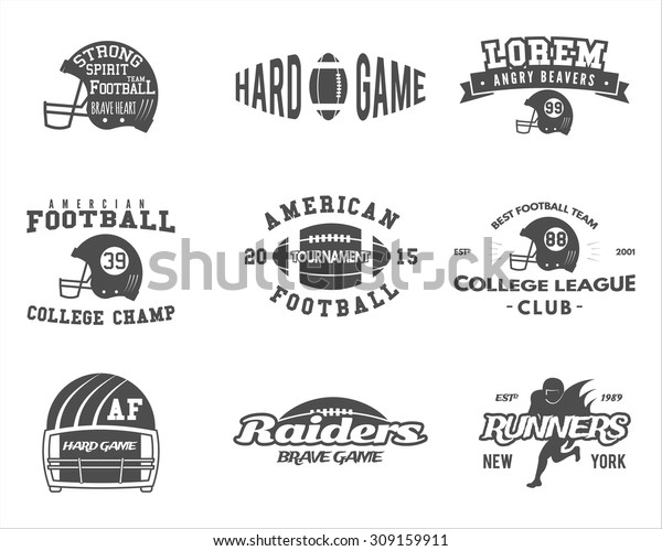 image relating to Printable College Logos known as School Rugby American Soccer Employees Camp Inventory Vector