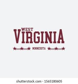 College slogan print. West Virginia Minnesota slogan print. Textile & Fashion slogan print idea