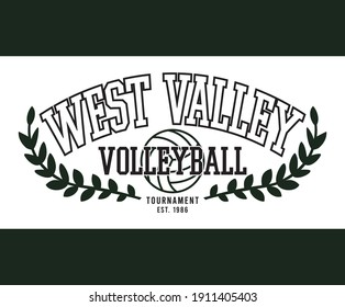 College Volleyball Print for T-shirt Sweatshirt and other uses