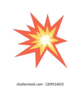 Collision emoji vector flat design band red spark