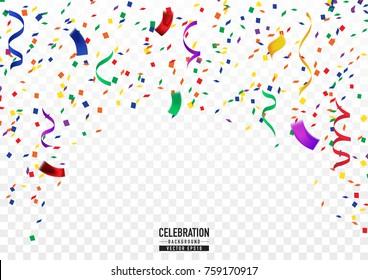 Coloful confetti background in celebration concept.