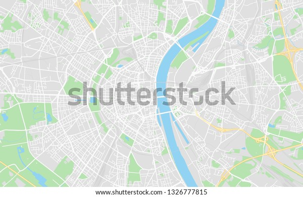 Cologne Germany Printable Street Map Classic Stock Vector (Royalty ...
