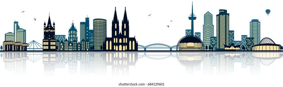 cologne skyline (germany)