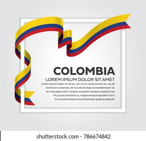 Colombia flag on a white background