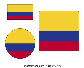 Colombia Flags Set