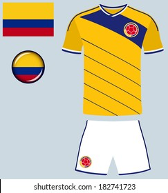 92e845366b7 Colombia Football Jersey. Abstract vector image of the Colombian Football  team kit