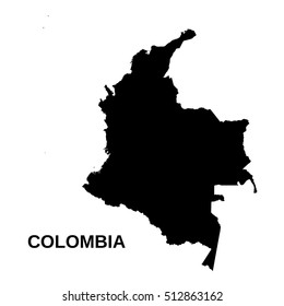 Colombia - high detailed vector map
