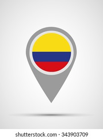 colombia location, flag application, vector illustration, abstract, graphic design