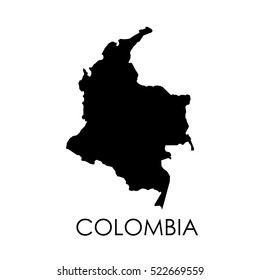 Colombia map on white background