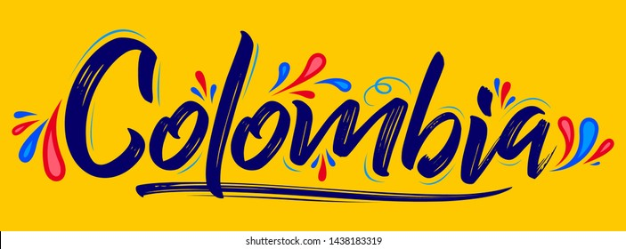Colombia Patriotic Banner design Colombian flag colors vector illustration