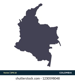 Vector Map Republic Colombia Isolated Vector Stock Vector (Royalty ...