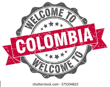 Colombia. Welcome to Colombia stamp