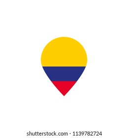 Colombian flag location icon