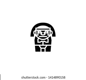 Colombian statue vector isolated flat illustration. Colombian statue icon