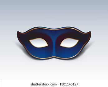Colombina face mask 3d realistic vector icon. Traditional Venetian or Mardi Gras carnivals, holiday masquerade, costumed party dressing part illustration. Mystery and secret concept design element