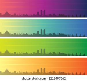 Colombo Multiple Color Gradient Skyline Banner