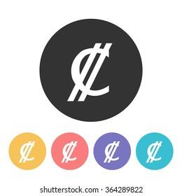 Colon icon. currency symbol. vector illustration