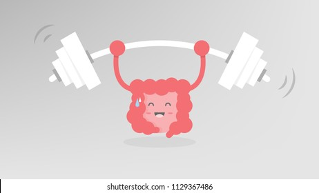 Colon weight lifting, strong colon, good healthy