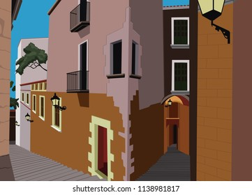 colonial neighbor alleyway