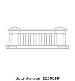 Colonnade, row of columns generally supporting an entablature.  Classical architecture colonnade