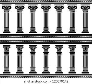 colonnade. stencil. vector illustration