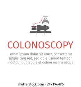 Colonoscopy flat icon. Vector illustration for websites