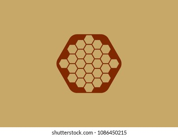 Color abstract vector honey background - vector illustration. pattern hexagons grey with structure of honeycomb and space to write your own text. Template with place for logo or business card