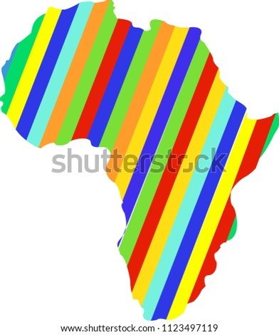 Color Africa Map Abstract Silhouette Africa Stock Vector Royalty