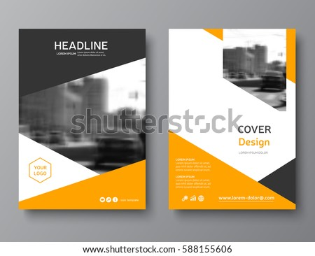 color annual report cover brochure template のベクター画像素材
