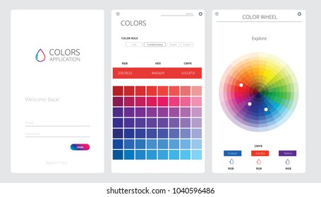 Color Application UI UX Vector Illustration