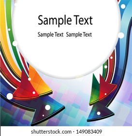 Color arrows. Abstract round border with place for text