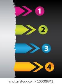 color arrows with special design