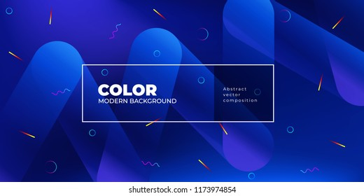 Color background design. Fluid gradient shapes composition. Futuristic design posters. Eps10 vector.
