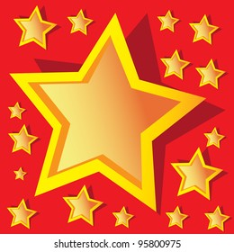 color background with stars. vector illustration.
