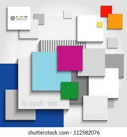 Color background for various options. Vector art.