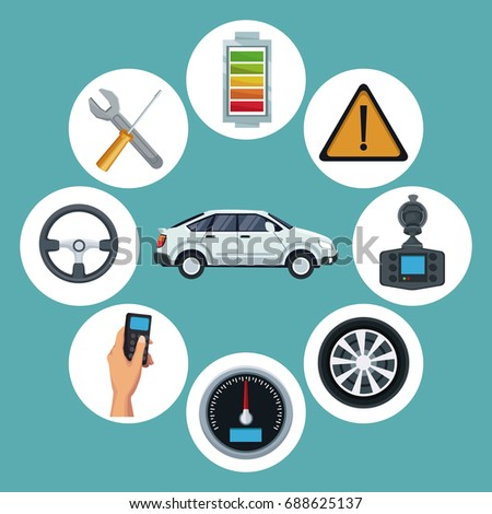 Color Background White Classic Car Vehicle Stock Vector Royalty - Classic car search