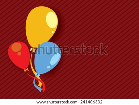 color balloons background template stock vector royalty free