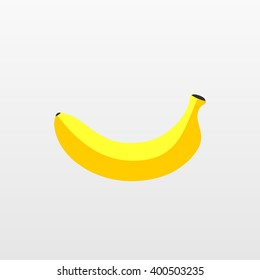 Color Banana fruit icon. Modern simple flat vegetarian sign. Eco food internet concept. Trendy yellow natural vector symbol for website design, web button, mobile app. Logo illustration.