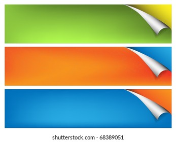 Color banner with flex edge