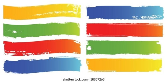 color banners set