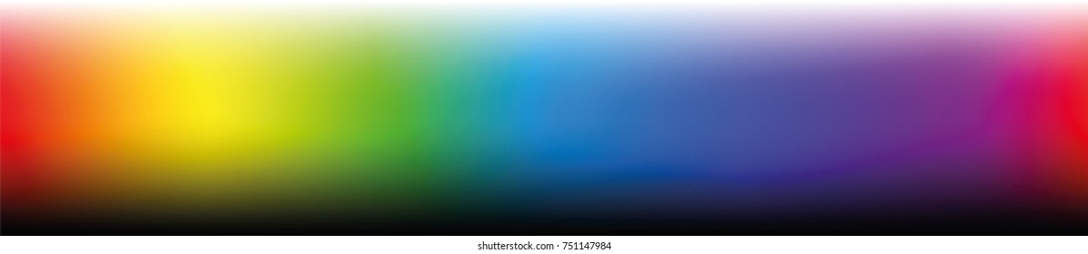 Color bar, horizontal format - gradients in different saturation from light to dark - work tool for graphic design artists - vector illustration.
